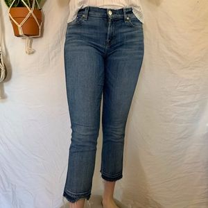 7 FOR ALL MANKIND kick crop jeans